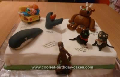 Homemade Gruffalo and other Julia Donaldson Stories Cake