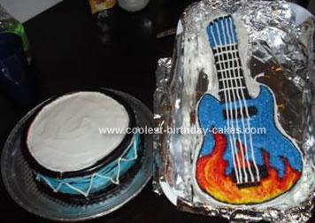 Homemade Guitar And Drum Cake