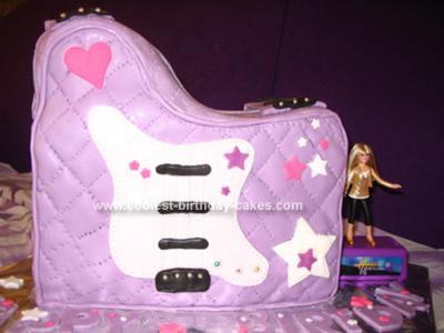 Homemade Hannah Montana Guitar Bag Birthday  Cake