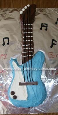 Homemade Guitar Birthday Cake