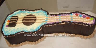 Homemade Guitar Birthday Cake Design