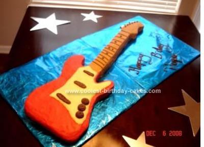 Homemade Guitar Cake
