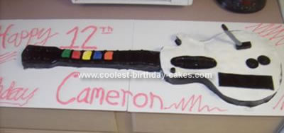 Homemade Guitar Hero Birthday Cake