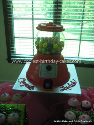 Coolest Gumball Machine Birthday Cake