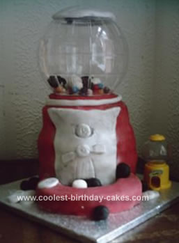 Homemade Gumball Machine Cake