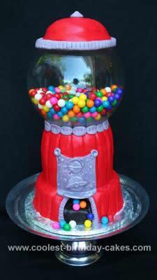 Homemade Gumball Machine Cake