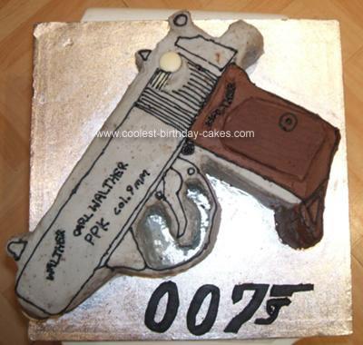 Homemade Gun Cake