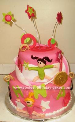 Homemade Gymnastics Cake