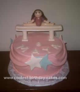 Gymnastics Themed Birthday Cake