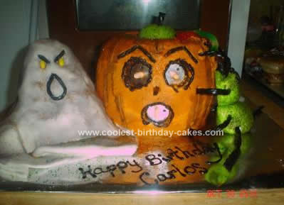 Homemade Halloween Birthday Cake