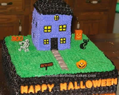 Homemade Halloween Cake