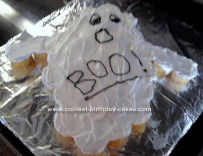Homemade Halloween Ghost Cake