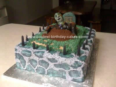 Cool Cool Homemade Spooky Halloween Graveyard Cake Funny Birthday Cards Online Inifofree Goldxyz