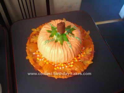 Homemade Halloween Pumpkin Cake Design