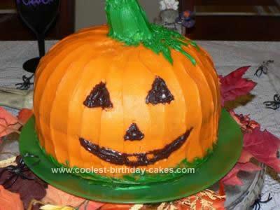 Homemade Halloween Pumpkin Cake Design