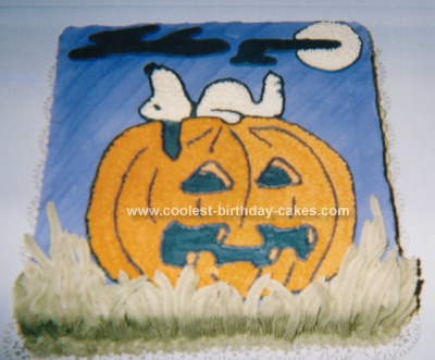 Halloween Pumpkin Party Cake Design