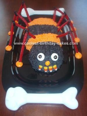 Striped Spider Cake
