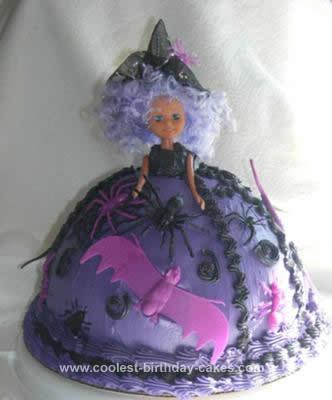 Homemade Halloween Witch Cake