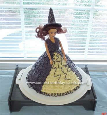 Homemade Halloween Witch Cake Idea