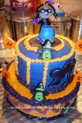 Homemade Halloween Witches Brew Cake