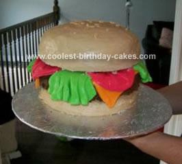 Homemade Hamburger Cake