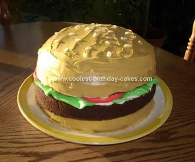 Homemade Hamburger Cake Design
