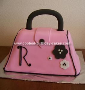 Homemade Handbag Birthday Cake