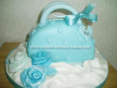 Homemade Handbag Birthday Cake