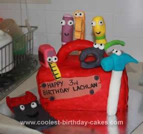 Homemade Handy Manny 3rd Birthday Cake