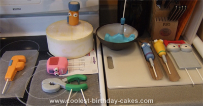 Homemade Handy Manny Birthday Cake