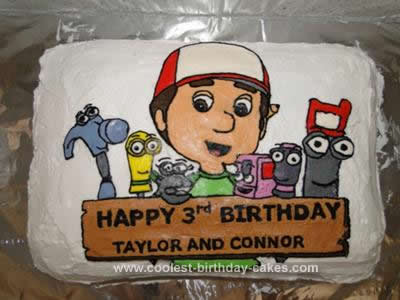 Amazing Coolest Handy Manny Birthday Cake Design Birthday Cards Printable Inklcafe Filternl