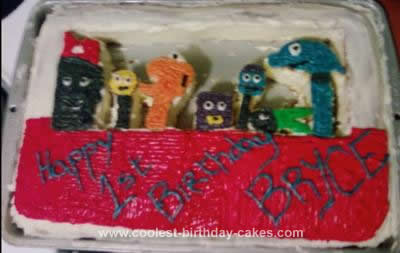 Homemade Handy Manny Tool Box 1st Birthday Cake