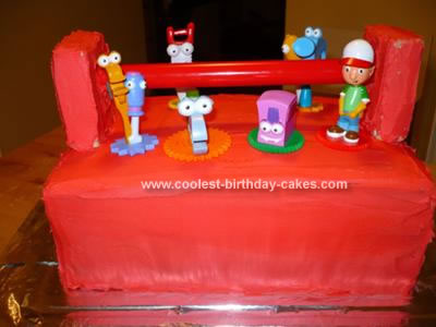 Homemade Handy Manny Toolbox Cake