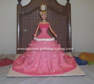 Homemade Hanna Montanna Birthday Cake