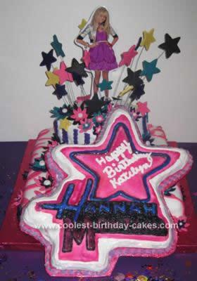 Amazing Coolest Hannah Montana Birthday Cake With Fondant Stars Birthday Cards Printable Inklcafe Filternl