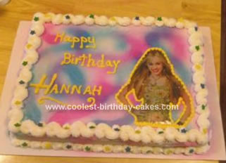 Strange Cool Homemade Hannah Montana Birthday Cake For My Niece Birthday Cards Printable Inklcafe Filternl