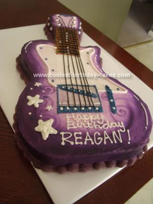 Homemade Hannah Montana Electric Guitar Cake