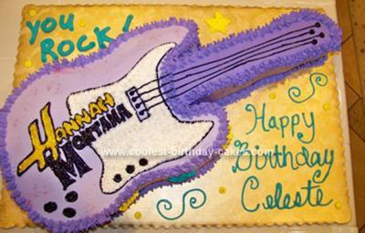 Homemade Hannah Montana Guitar Cake