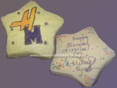 Homemade Hannah Montana Star Birthday Cake