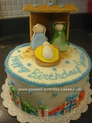 Homemade Happy Birthday Jesus Cake