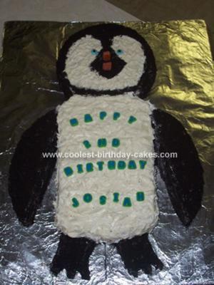 Homemade Happy Feet Birthday Cake