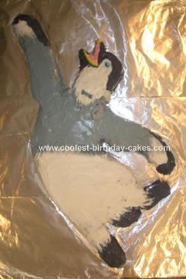 Homemade Happy Feet Birthday Cake