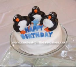 Homemade Happy Feet Cake