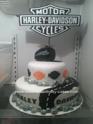 Homemade Harley Birthday Cake