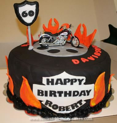 I Made This Harley Birthday Cake For A Friends 60th He Really Likes Davidson And His Wife Wanted Something Special