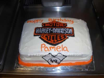 Homemade Harley Birthday Cake Design