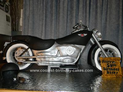 Homemade Harley Davidson 50th Birthday Cake