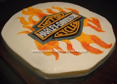 I Was Asked By A Woman At My Sons Preschool If Could Make Homemade Harley Davidson Cake For Her Husbands Surprise 39th Birthday Party