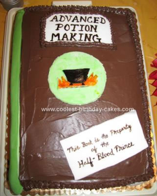Homemade Harry Potter and the Half-Blood Prince Cake