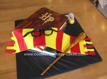 Cool Homemade Harry Potter Birthday Cake Design